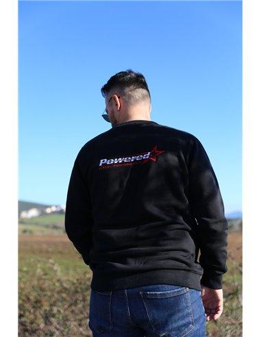 Black Unisex Round-Neck Sweatshirt GS