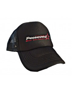 Black Trucker Cap with back mesh and PVC closure